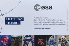 Der ESA Astronaut Matthias Maurer zu Besuch im Weltraum-Atelier Nohfelden