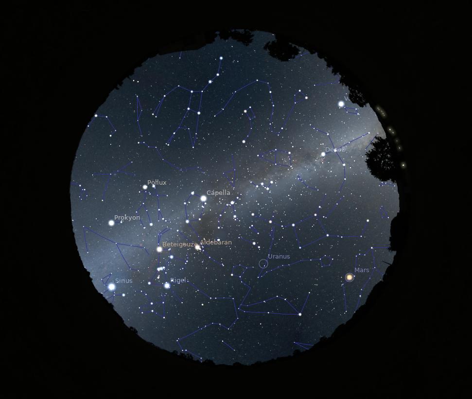 Sternenhimmel im Planetarium